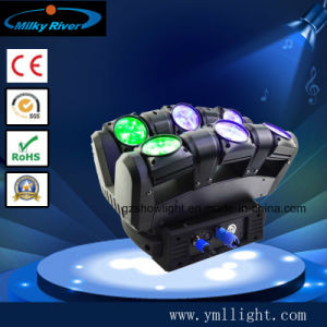 DMX DJ Spider Moving Head Light 6PCS 12W RGBW LED Wedding Move Light pictures & photos