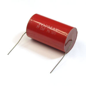 Axial Type Metallized Ployester Film Capacitor (CBB20 333K/630V) for Electrical Equipment pictures & photos