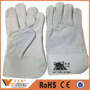 Double Palm Mechanical Leather Work Gloves pictures & photos