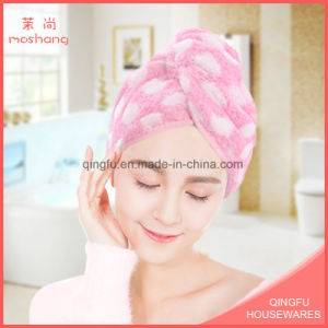 Super Absorbent Microfiber Coral Fleece Towel Dry Hair pictures & photos