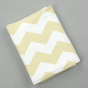 Super Soft Reversible 100% Cotton Knitted Baby Blanket pictures & photos