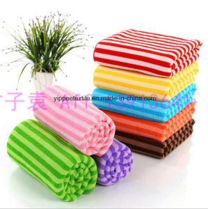 Yarn-Dyed Color Striped Microfiber Cleaning Towel pictures & photos