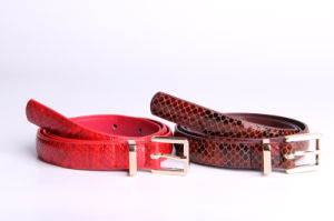 Smoothly PU Snakeskin Belts for Fashion Accessories Women Waist Belt pictures & photos