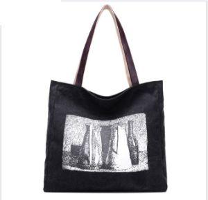 2017 Women Fashion Leisure Canvas Hand Shoulder Shopping Bag pictures & photos