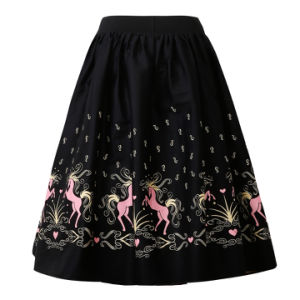 Latest Plus Size MIDI Umbrella Skirt with Pocket for Ladies pictures & photos