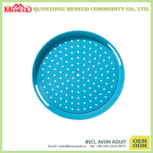 Custom Made Round Melamine Tray with Handles pictures & photos