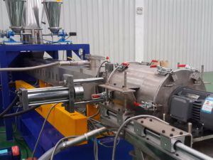 LDPE HDPE PE Twin Screw Water Ring Pelletizing Machine pictures & photos