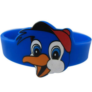 Custom Cartoon Printing Logo Silicone Bracelet Wristband pictures & photos