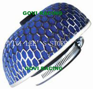 Sponge Car Air Filter with 76mm Iron Mesh Blue Universal for Car Air Intake Pipe pictures & photos