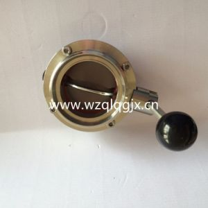 Dn80 Food Grade Sanitary Ss304 or Ss316L Male Butterfly Valve pictures & photos