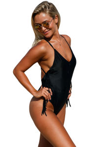 Flowing Fringed Sides One Piece Swimsuit pictures & photos