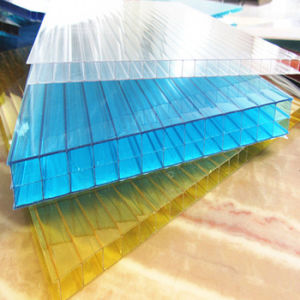 Double Layer Polycarbonate Sheet Multi Span Greenhouse for Flowers pictures & photos
