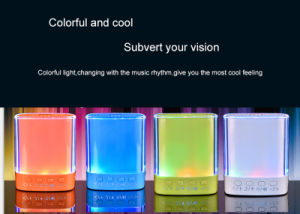 Colorful Lighting Music Mini Portable Speaker pictures & photos