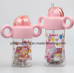 260ml Customized Logo Kids Water Bottles with Strew BPA Free Plastic Water Bottle pictures & photos