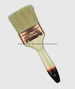 Natural White Bristle Paint Brush with Wooden Handle with Black Tip pictures & photos