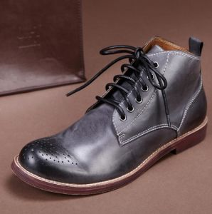 Fashion Leather Shoes Winter Boots Casual Shoes for Men (AKPX35) pictures & photos