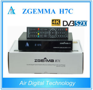 New 4k Uhd Satellite Receiver Zgemma H7c with Bcm7251s DVB-S2X + 2*DVB-T2/C Three Tuners pictures & photos