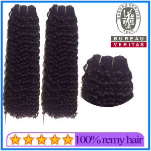 Full Cuticle Attached Smooth Cheap Virgin Brazilian Curly Hair Virgin Hair Weft for Black Women pictures & photos
