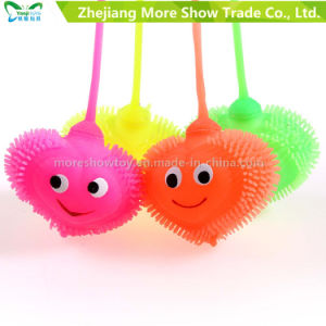 Light up Soft Plastic Spike Heart Shape Ball Kid Toy pictures & photos