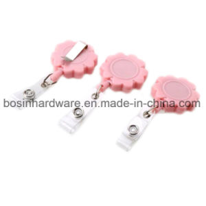 Flower Shape Badge Reel with Belt Clip pictures & photos