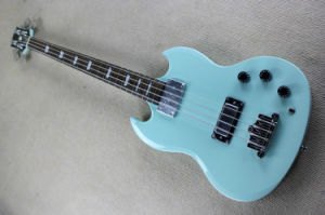 Hanhai Music/Sky Blue Sg Style Electric Bass Guitar with 4 Strings pictures & photos
