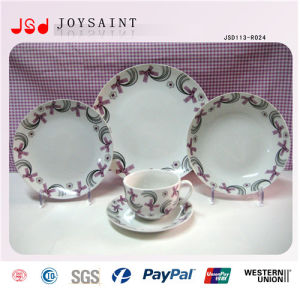 Customized Round Shape Stonewasre Dinner Sets with High Quality pictures & photos