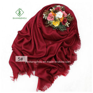 Large Size Shawl Herringbone Plain Cotton Lady Fashion Scarf pictures & photos
