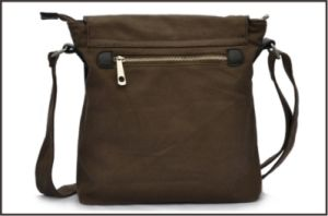 Vintage Fashion Genuine Leather Canvas Messenger Bag pictures & photos