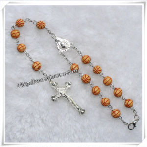 Religious Red Rose Perfumed Wooden Car Rosary (IO-CB015) pictures & photos