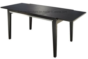 Wooden Modern Extendable UV Lacquer Solid Wood Leg Dining Table (I&D-6026) pictures & photos