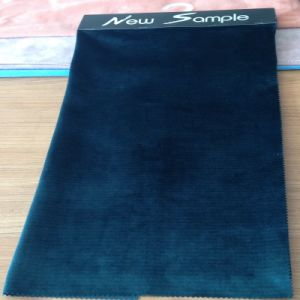 Plain Dyed Tricot Knitted Velvet Fabric with T/C Backing for Sofa, Curtain, Upholstery pictures & photos