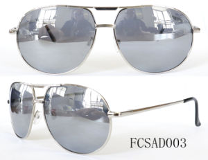 Fashion Style Mirror Coated on Sunlens Metal Sunglasses for Man pictures & photos