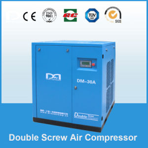 11kw 1.25~1.80m3/Min Stationary Belt Driven Screw Air Compressor Made in China pictures & photos