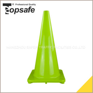 28 Inch Lime Color Soft PVC Cone (S-1232) pictures & photos