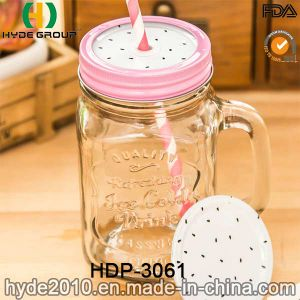 16oz Customized Double Wall Glass Mason Jar with Handle (HDP-3061) pictures & photos