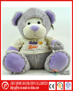 White Painted Plush Mohair Teddy Bear with Moveable Arm pictures & photos