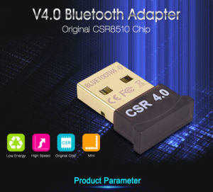 High Speed Wireless V4.0 Bluetooth USB Dongle CSR 8510 Chip for Win7/8/10/XP pictures & photos