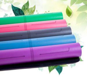 Pilates Natural Tree Rubber PU Yoga Mat with Custom Logo pictures & photos