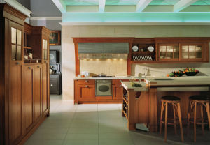 Customized Modern Design Solid Wood Kitchen Cabinet pictures & photos
