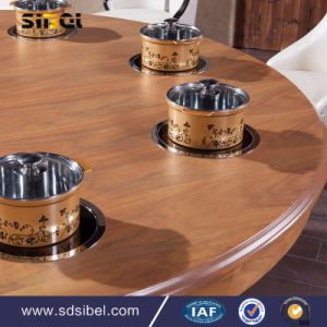 Modern Fashion Design Home Use Wood Round Dining Table and Chairs Dining Table Wood pictures & photos