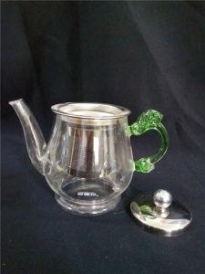 Unqiue Design Tea Pot Maker Borosilicate Glass Teapot Set with Infuser Warmer pictures & photos