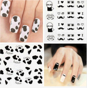 Beauty Feather Mustachee Water Transfer Nail Art Sticker Nail Sticker pictures & photos