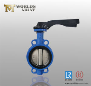 Aluminum Lever Wafer Butterfly Valve with CE ISO Wras Certificates (WD7A1X-10/16) pictures & photos