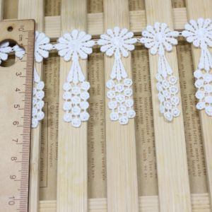 Factory Stock Wholesale 6cm Width Embroidery Nylon Lace Polyester Embroidery Trimming Fancy Lace for Garments Accessory & Home Textiles & Curtains pictures & photos