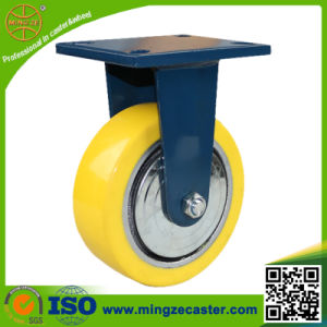 Hand Trolley PU Cast Iron Wheel Industrial Caster pictures & photos
