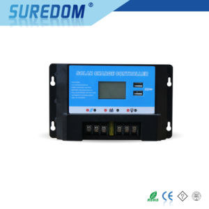 12V 10A 20A 30A Solar Controller with LCD Dual USB Solar System pictures & photos