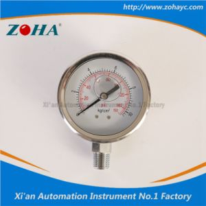 Shock-Proof Filled Oil All Stainless Steel Pressure Gauge pictures & photos