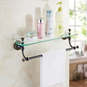 FLG Oil Rubbed Bronze Bath Glass Shelf Bathroom Wall Mounted pictures & photos