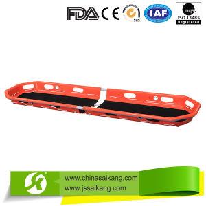 Plastic Patient First-Aid Demountable Basket Fodable Stretcher pictures & photos