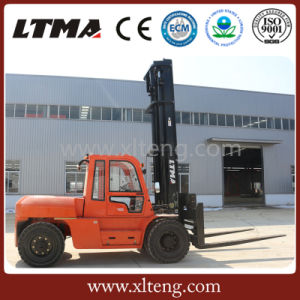 10 Ton New Diesel Forklift Price with Maximal Lifting Height 7m pictures & photos